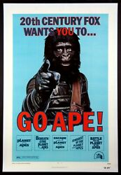 Go Ape Planet Of The Apes Festival Poster 1974 1-sheet Linenbacked