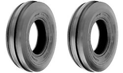 Two 7.5l-15 Tri 3-rib Front Farm Tractor Tires And Tubes 6ply Rated F2 Heavy Duty
