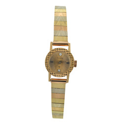 Silvana Women's Pre-owned 18k Solid Yellow Gold Windup Watch