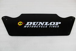 Dunlop Motorcycle Tires Metal Sign / 22 5/8 Wide And 7 9/16 Tall