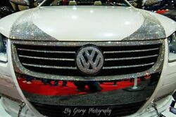 Any Car Custom Crystallized Front Grille Car Bling W/ Crystals Bedazzle