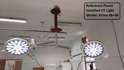 Double Dome Ceiling Operating Surgical Light Led Operation Theater Lamp Led 48x2