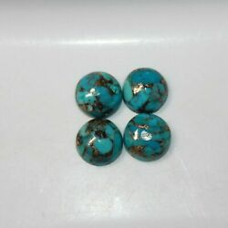 12x12 Mm Natural Blue Copper Turquoise Round Cabochon Loose Gemstone Sc-175