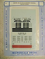 Microscale Decal N Scale 60-681 Alco Demonstrator Century Series Locos