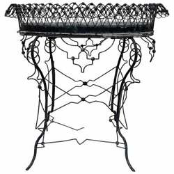 Italy 1930 Eclectic Flower Box Flush Processing With A Mesh Part Made Of Lead