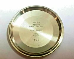 Vintage Authentic Rolex Oyster Perpetual Date 1500 Back Cover Nos Unused Sticker