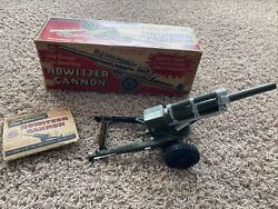Louis Marx And Co. Howitzer Cannon From 1950s Us Army Mobile Unit W/ Box See Desc