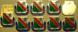/di Army Crest Pins 787th Military Police Bnlot Of 9 Crests