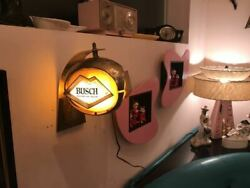 Rare Vintage Busch Lighted Sign Beer Display Advertising 1950's Antique