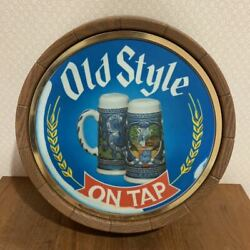 Rare Vintage Old Sty Beer 1970s Wooden Lighted Sign Display Advertising Antique