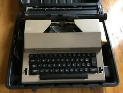 Vintage Sears Best Corrector Portable Electric Typewriter With Cord, Case, Extra