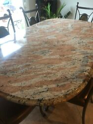 Granite Table And 6 Chairs