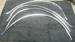 1969 1970 1971 Lincoln Mark Iii Orig Front And Rear Wheel Well Lip Trim Moldings