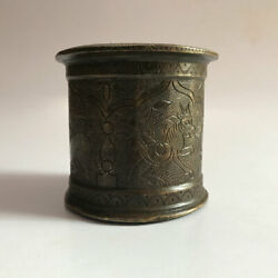 Brass Holy Water Pot Panchpatra Old Hindu Traditional Ritual Temple Use