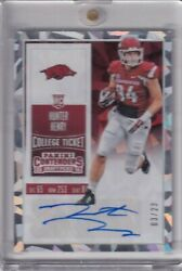 Hunter Henry 2016 Contenders Draft Picks Cracked Ice College Ticket Rc Auto /23