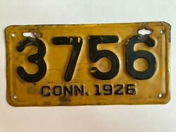 1926 Connecticut Motorcycle License Plate 100 Original Harley Indian