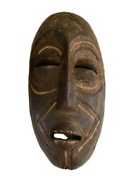 Old Tribal Oceanic Papua-new Guinea Mask 16.5 H