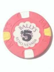 1986 Ballyand039s Hotel Casino Reno Nevada 5.00 Chip Great For Any Collection