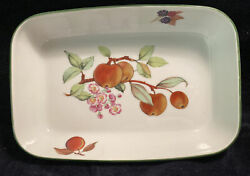 Royal Worcester Evesham Rectangular Oven To Table Serving Dish 7andrdquox10 1/2andrdquo W/box