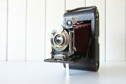 Kodak Automatic - Red Bellows Antique Folding Camera Working Condition
