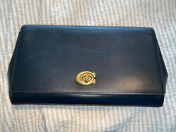 Coach Alexa Clutch Black Smooth Leather with Goldtone hardware $45.00