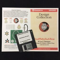 Christmas Lace Embroidery Designs Disk For Husqvarna Viking Designer 1 Machine