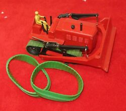 Dinky Blaw Knox Dozer Or Heavy Tractor Green Rubber Tracks Pair