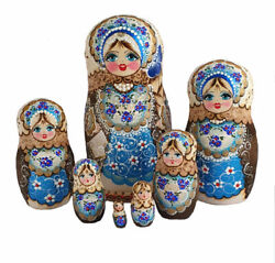 Russian Nesting Dolls Stacking Nest 7 Pièces Painted At Hand Rousanova