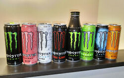 Monster Energy Empty Can Open 8pc Collection Set Japan Fast Shipping