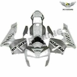 Fit For Honda 2003-2004 Cbr600rr Silver Repsol Injection Fairing D004-g14a