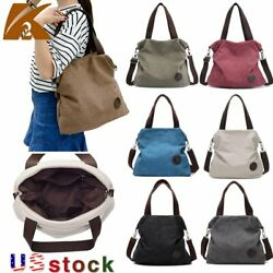 KVKY Women#x27;s Casual Canvas Shoudler Bags Tote CrossBody Handbags Satchel Purse $15.99