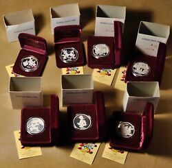 1934 To 1989 Donald Duck .999 Silver Proof 7 Coin Set Issued In 1990