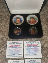 Elvis Presley 25th Anniversary Coins..2 Eagle And 2 State Quarter Collector Set