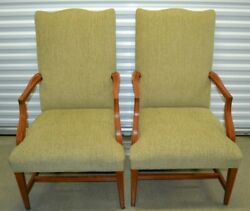 Mint Ethan Allen Martha Washington Chairs Upholstered Dining Accent 20-7471
