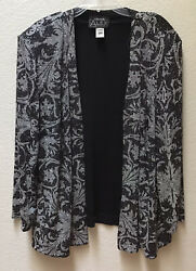 Alex Evenings Jacket Black Silver Evening Women's Size 20W Holiday Dressy Party $21.59