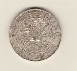 Small Letters 1893 Victoria Old Head Shilling In Near Mint Condition