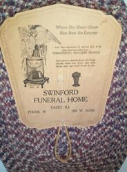 Antique Swinford Funeral Home Advertising Hand Fan Casey Illinois