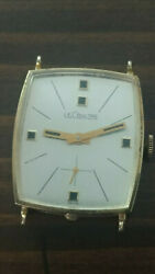 Lecoultre Watch Vintage 14k Gold - Very Rare Square Face