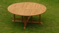 72 Round Table - A Grade Teak Wood Garden Outdoor Dining Furniture Pool Patio