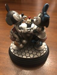 1996 Chilmark Pewter Figurine Disney Sippin' Soda Mickey And Minnie Mouse Le