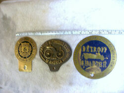 3 License Plate Auto Toppers Vintage Automobile Club Of America Car Plaques