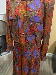 Vintage Andrea Gayle 12 Skirt And Blouse Suit Career Outfit/leslie Fay
