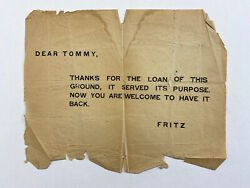 Original Wwi German / Wwi German Psy-ops Dear Tommy Thanks For The Loan Of This