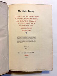 Henry . Alfred Huth Huth / Huth Library Catalogue Of The Printed Books 1st Ed