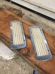 2 Vintage Wood Boat Step Pads And Frames Approx. 3 1/4andrdquox 9 1/4andrdquo Group 2