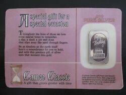 Vintage Happy Birthday 1 Troy Ounce .999 Silver From Cameo Classic Sealed