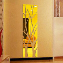 3D Removable Tree Mirror Wall Sticker Art Mural Wall Stickers Home Decoration