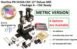 Sherline Pn 5410 Metric 12″ Deluxe Mill Package A – Cnc-ready + 3 Add On Options