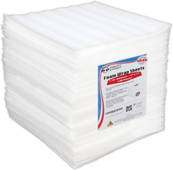 100 Pack Mighty Gadget 12 X 12 X 1/16 Moving Supplies Packing Foam Sheets New