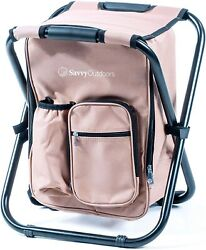 Ultralight Backpack Cooler Chair Compact Portable Folding Stool Camping Picnic $28.88